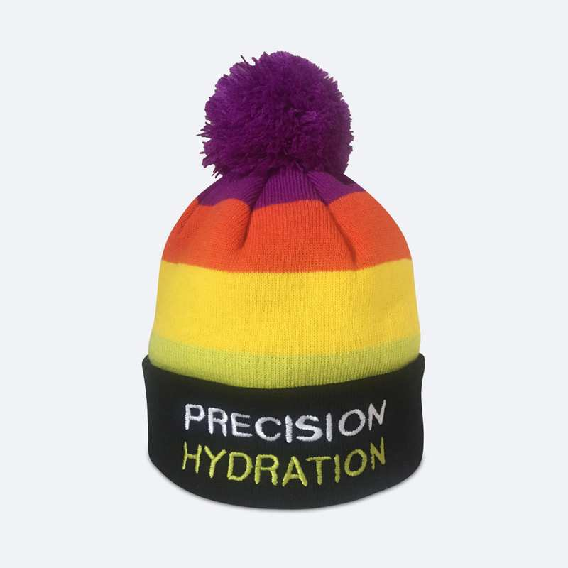 Precision Hydration multi-colour bobble hat